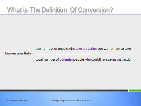 definition of conversion rate